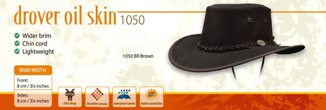 The Drover Oilskin Hat by Barmah