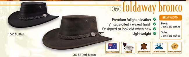 The Foldaway Bronco Hat by Barmah